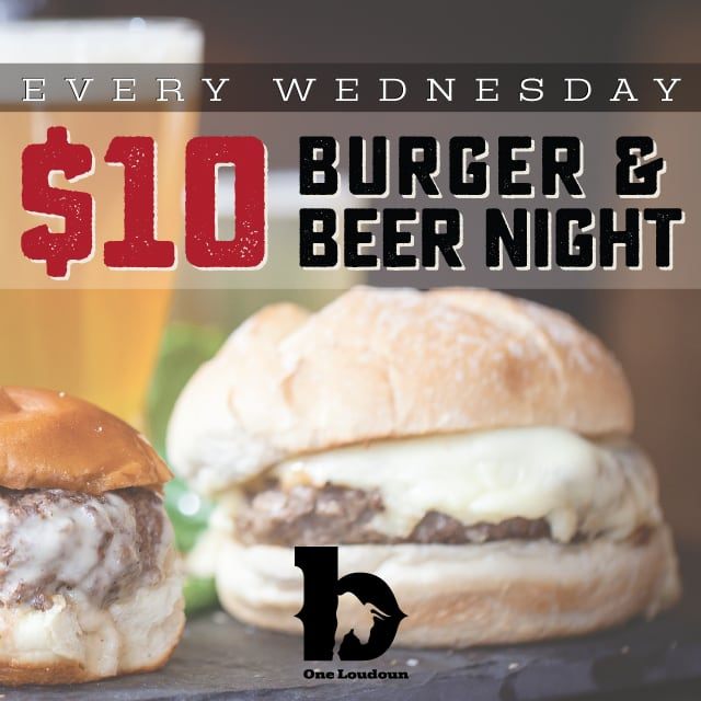 Burger and Beer $10 One Loudoun